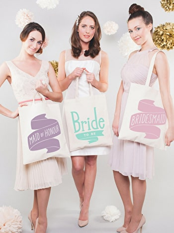 Bridesmaid Tote Bag | Bridesmaid Cotton Tote | Alphabet Bags