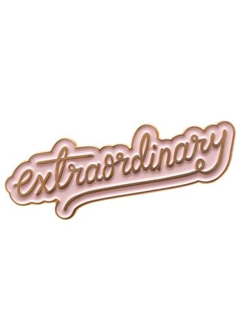 Extraordinary | Enamel Pin | Alphabet Bags