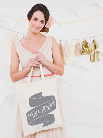 Maid of Honour Tote Bag | Bridal Party Tote Bag | Alphabet Bags