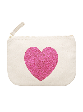 Photo of Glitter Heart - Little Canvas Pouch