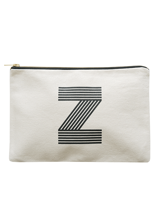 Letter z pouches shop alphabet bags for Puff and pass cover letter