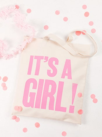 Photo of It's a Girl! - Cotton Tote Bag