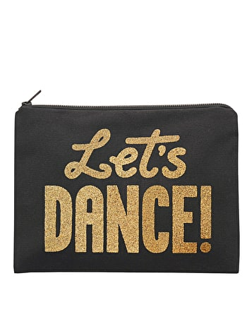 Photo of Let's Dance - Black Canvas Pouch
