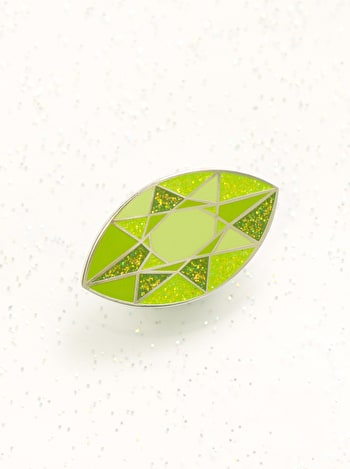 Peridot Birthstone Pin | Birthday Gift | Alphabet Bags