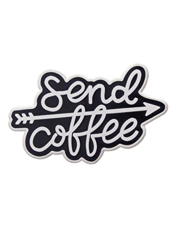 Send Coffee | Enamel Pin | Alphabet Bags