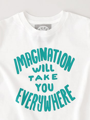 Imagination Quote T Shirt | Kid's Slogan T Shirts | Alphabet Bags