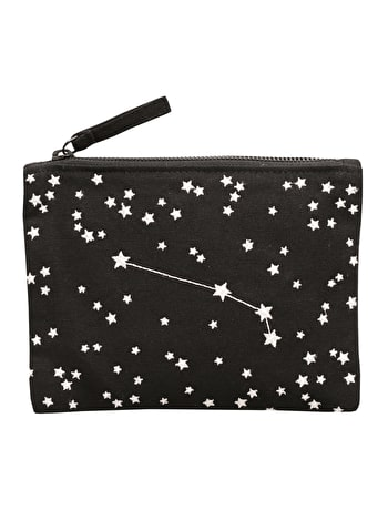 Zodiac Zipper Pouch | Horoscope Cosmetics Bag | Alphabet Bags