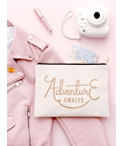 Adventure Awaits - Large Canvas Pouch