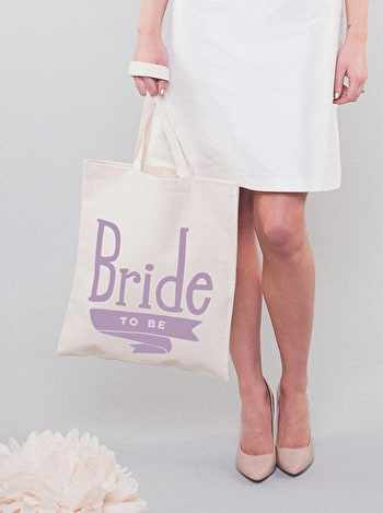 Bride to Be Tote Bag | Canvas Wedding Tote | Alphabet Bags