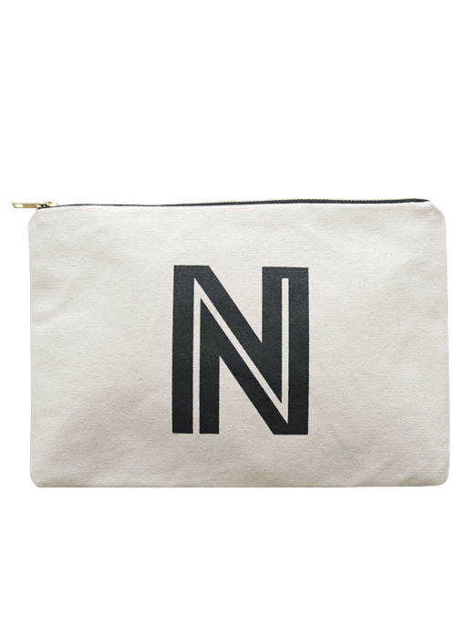 Letter n large canvas pouches pouches shop for Puff and pass cover letter
