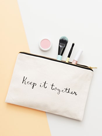 Keep It Together | Canvas Clutch Bag | Alphabet Bags