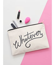 Whatever - Large Canvas Pouch