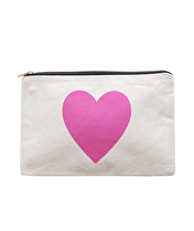 Heart - Large Canvas Pouch