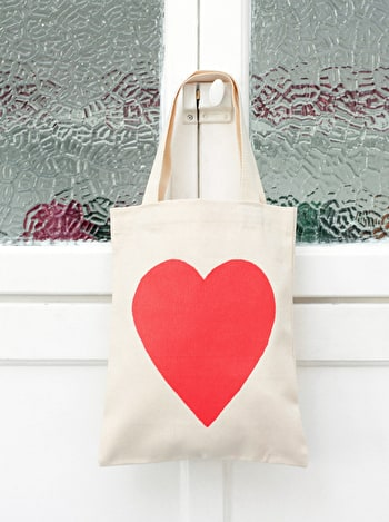 Photo of Heart - Mini Cotton Tote Bag