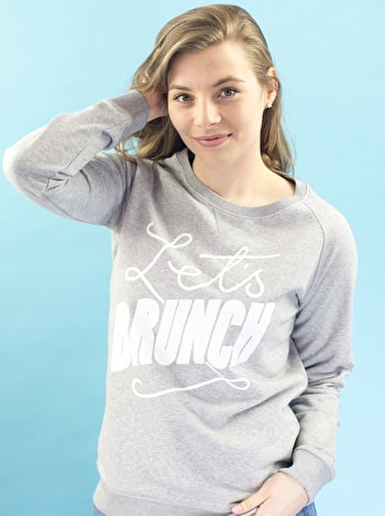 Photo of Let's Brunch - Grey Sweatshirt