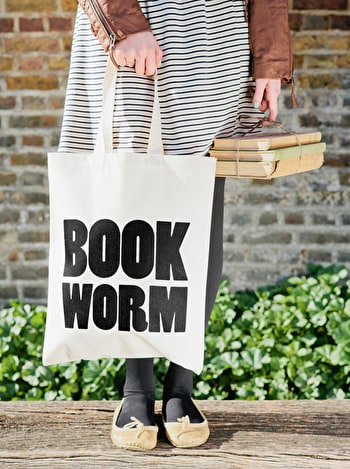 Photo of Book Worm - Cotton Tote Bag