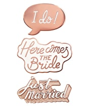 Wedding Enamel Pin Set
