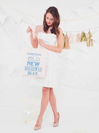 Something Old Tote Bag | Something Blue Wedding Bag | Alphabet Bags