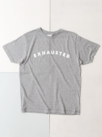 Exhausted Men's T Shirt | Men's Slogan T-Shirts | Alphabet Bags