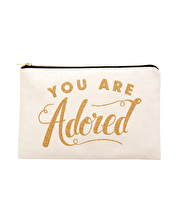 You are Adored - Large Canvas Pouch