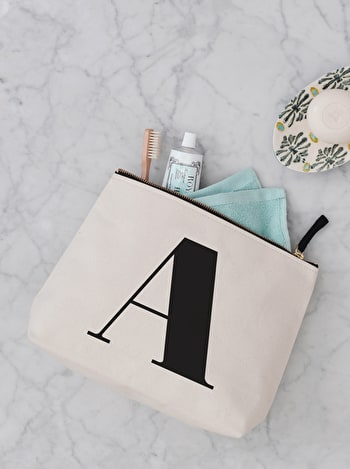 Initial Toiletry Bag | Personalised Makeup Bag | Alphabet Bags