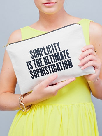Simplicity - Large Canvas Pouch