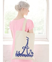 Initial Cotton Tote Bag - Rob Ryan for Alphabet Bags