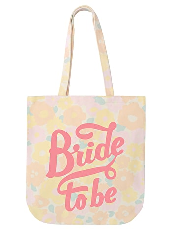 Floral Bride to be Tote Bag | Bride Canvas Bag | Alphabet Bags