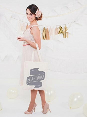 Photo of Maid of Honour Grey - Wedding Tote Bag