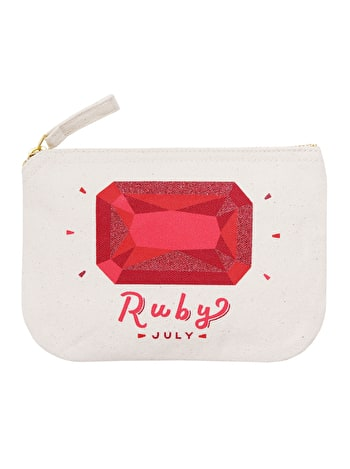 Ruby / July - Birthstone Pouch