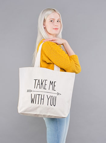 Photo of Take Me With You - Big Canvas Tote Bag