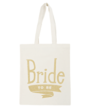 Bride To Be Gold Glitter - Wedding Tote Bag
