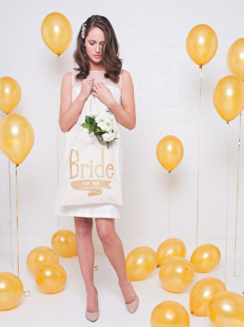 Photo of Bride To Be Gold Glitter - Wedding Tote Bag