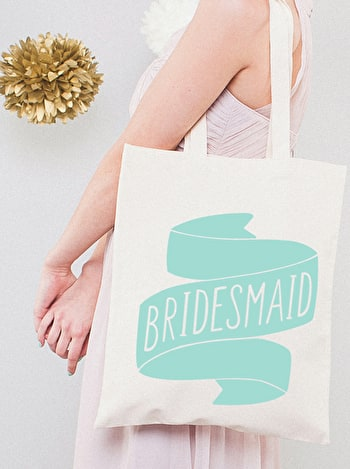 Photo of Bridesmaid Mint - Wedding Tote Bag