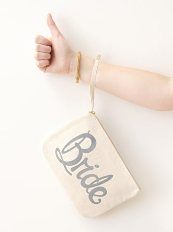 Photo of Bride Grey - Wedding Pouch