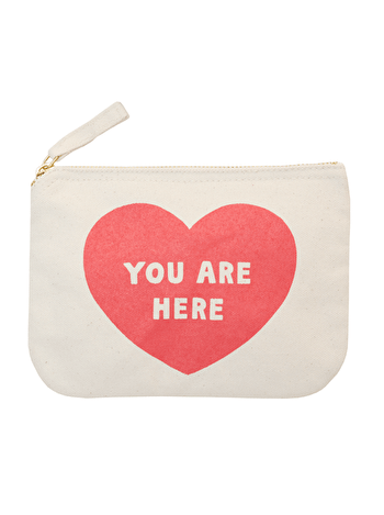 You Are Here - Little Canvas Pouch