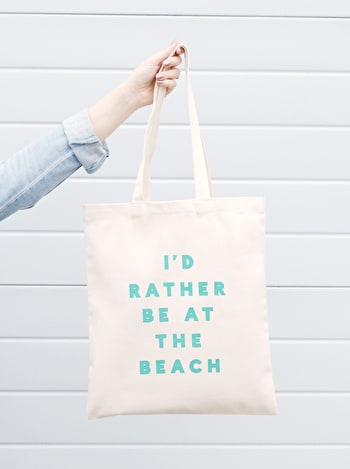 Photo of I'd Rather be at the Beach - Cotton Tote Bag