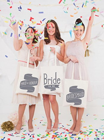 Photo of Bridesmaid Grey - Wedding Tote Bag
