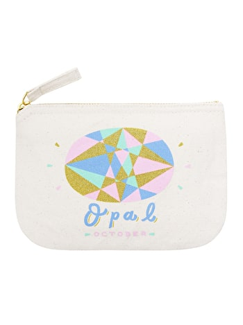Opal / October - Birthstone Pouch