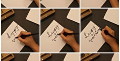 Creative Calligraphy Valentine's Day Cards