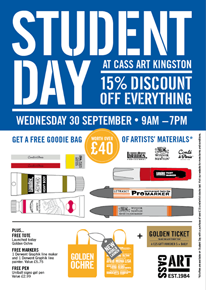 Past event: Kingston Student Day 2015: 15% Off + Free £40 Goodie Bag