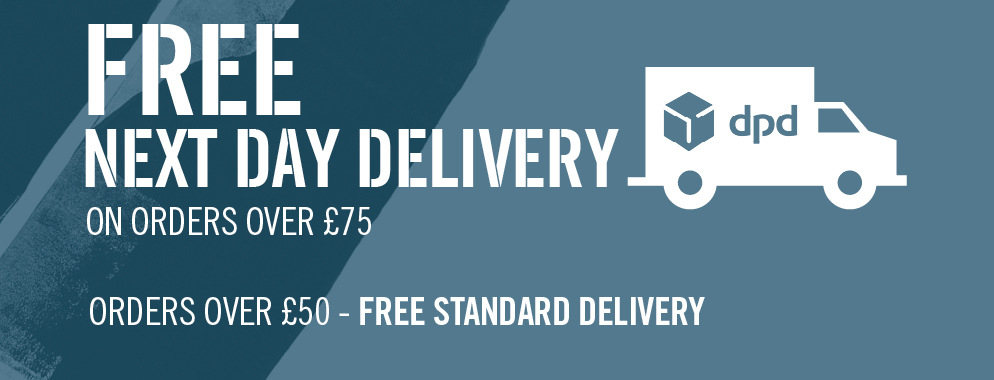 Free next day delivery UK wide when you spend over £75