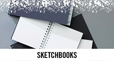 From Sewn bound sketchbooks to ring bound books, there are a variety online and in stores at Cass Art.