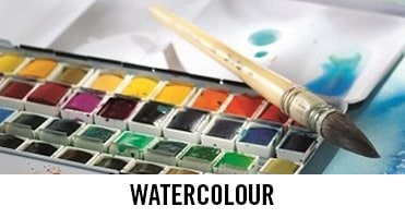 Watercolour paints from brands such as Winsor & Newton, Daniel Smith and Schmincke