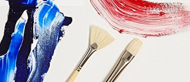 Hog bristles are firm and leave a slight texture when aplied with thick paint on canvas.