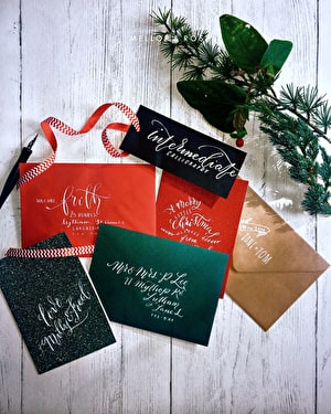 Beginners Modern Calligraphy workshop (Christmas Theme)