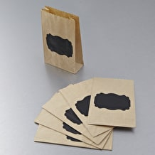 Papermania Chalkboard and Kraft Paper Bags Pack of 6