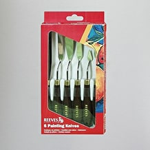 Reeves Oasis Metal Painting Knives Set of 6