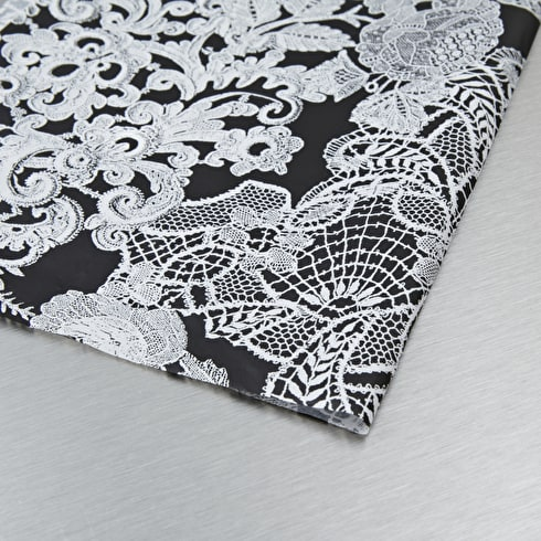 Decopatch Paper Black White Flowers 30 x 40cm