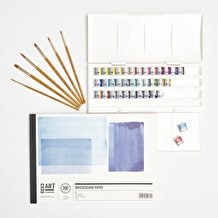 Aspiring Watercolour Starter Set with Paint, Paper & Brushes